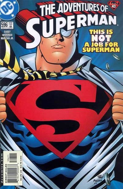 The Adventures of Superman #596 from 2001.
