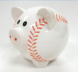"""6"""" Baseball Piggy Bank"""