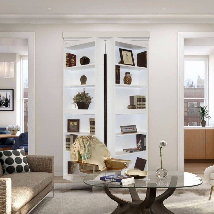 The Paint Grade Surface Mount By Murphy Door Is A Beautiful Bifolding  Bookcase That While Completely Functional Also Sits In Front Of Any Opening  Creating ...
