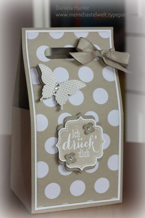 tolle verpackung stampin up only pinterest bags the shape and polka dots. Black Bedroom Furniture Sets. Home Design Ideas