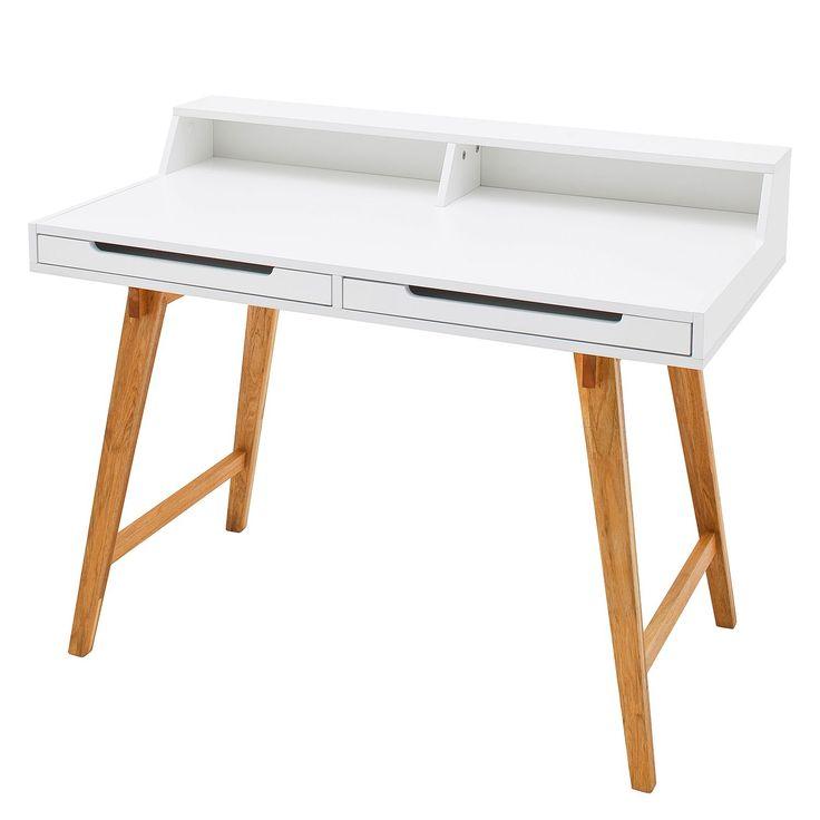 Schreibtisch Birkum   Trompetenbaum Teilmassiv   Weiß / Buche Dekor,  Morteens Jetzt Bestellen Unter: