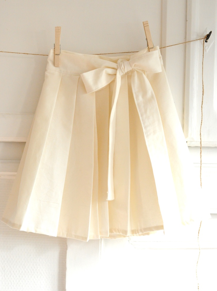 DIY: pleated wrap skirt