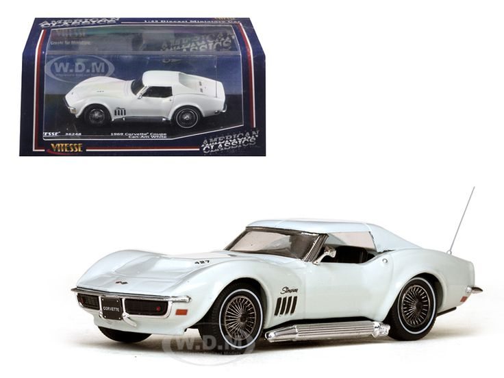 diecastmodelswholesale -  1969 Chevrolet Corvette Coupe Can-Am White 1/43 Diecast Model Car by Vitesse, $24.99 (http://www.diecastmodelswholesale.com/1969-chevrolet-corvette-coupe-can-am-white-1-43-diecast-model-car-by-vitesse/)