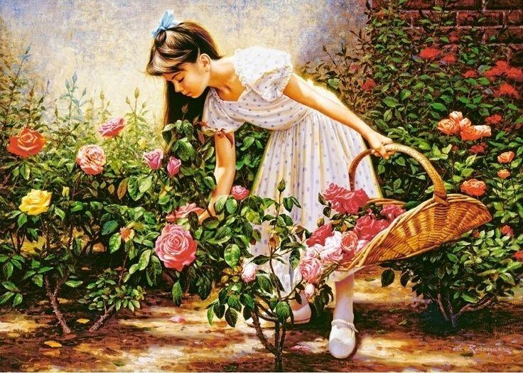 At The Rose Garden 1000pcs (C-103126) Castorland