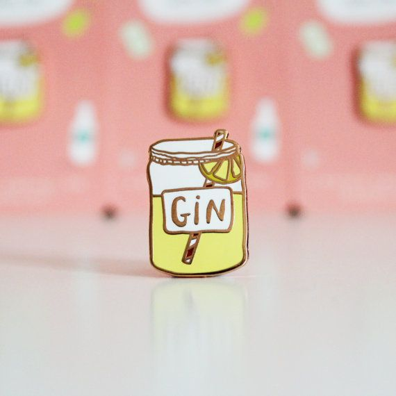 Enamel Gin lapel Pin  Mothers day Gift for gin lovers
