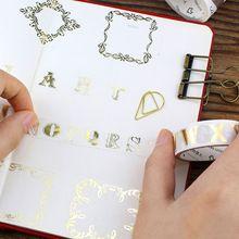 Kawaii Et papier bande or et argent série BRICOLAGE décoratif album planificateur du ruban adhésif washi bande bureau papeterie(China (Mainland))