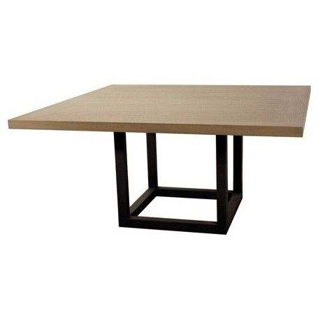 Les 25 meilleures id es de la cat gorie table carr e bois for Table de salle a manger carree design