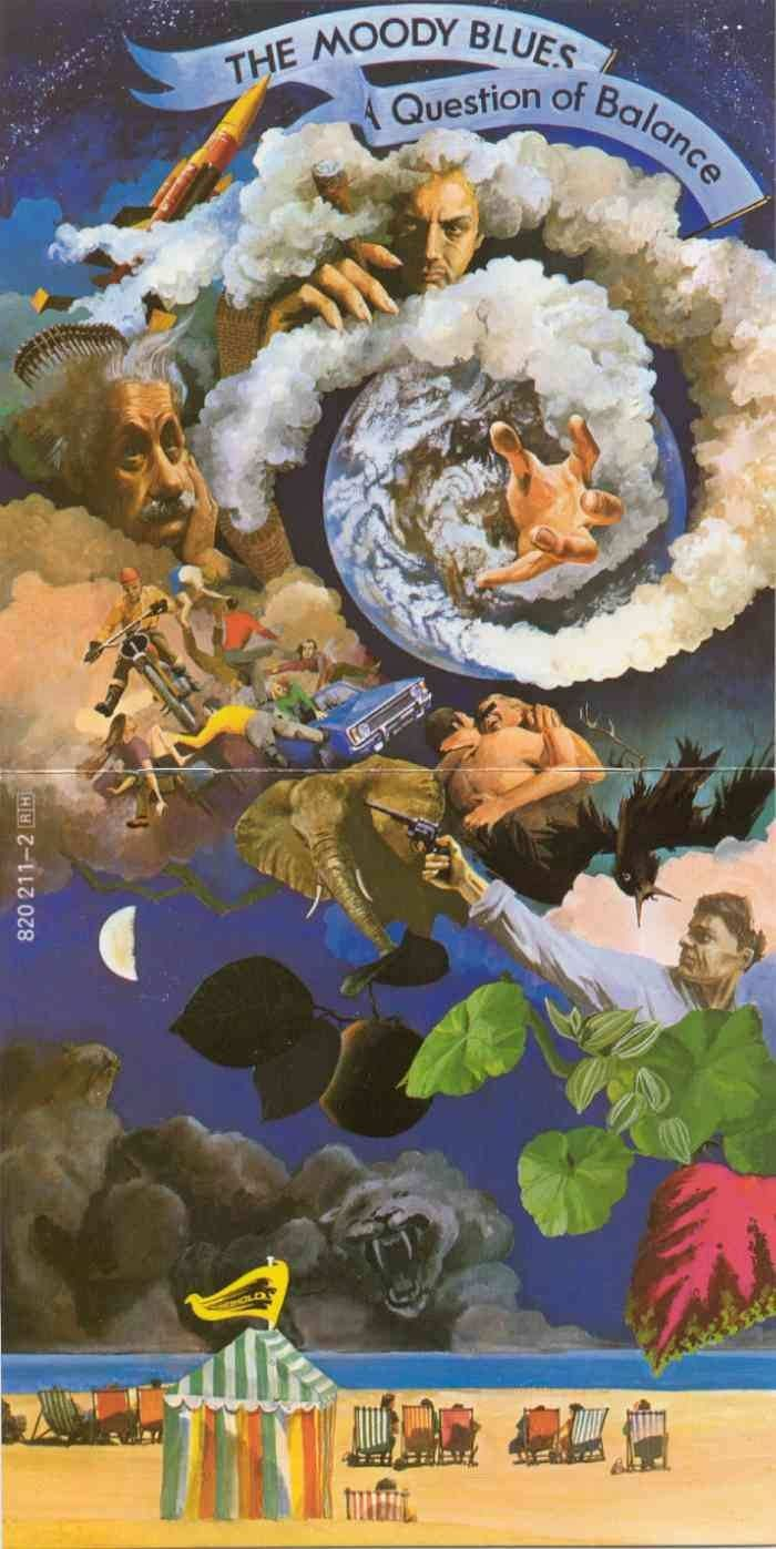 1986 The Moody Blues - A Question Of Balance [Threshold 820211-2] artwork: Phil Travers #albumcover (full) #illustration