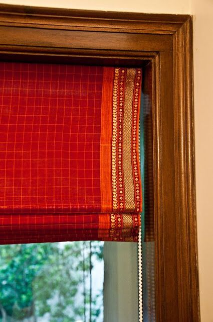 Sajavat: Saree used as blinds
