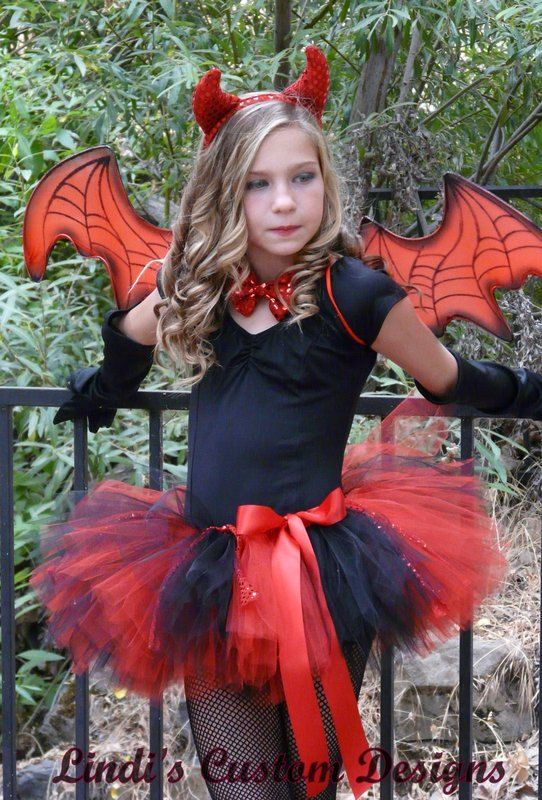 Devil Tutu Red and Black with Red Sequin Accent by sweethearttutus