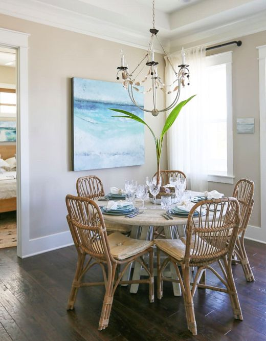 How To Make A Small Coastal Home Feel Spacious Coastal Dining Room Coastal Room Dining Room Nook Coastal living decor dining rooms