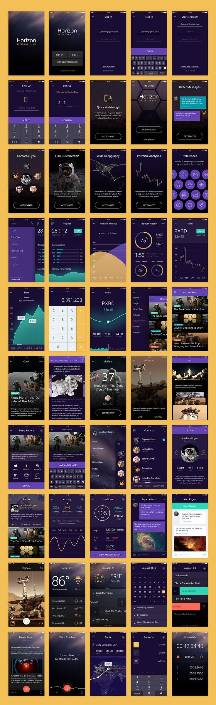 Horizon | Extensive UI Kit on Behance