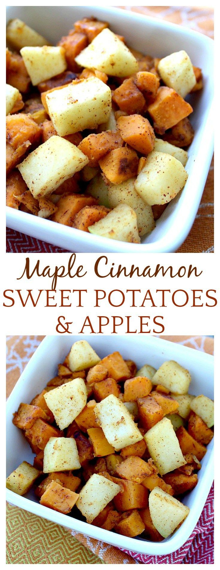 This apple and sweet potato recipe reminded me of apple pie, but with sweet potatoes in the mix! The tart apples offset the sweet to make this dish absolutely delish! A great fall side dish recipe!