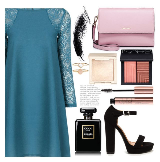 """""""Party"""" by mirmir-825 ❤ liked on Polyvore featuring WithChic, NARS Cosmetics, Jouer, Accessorize, Heels and dress"""