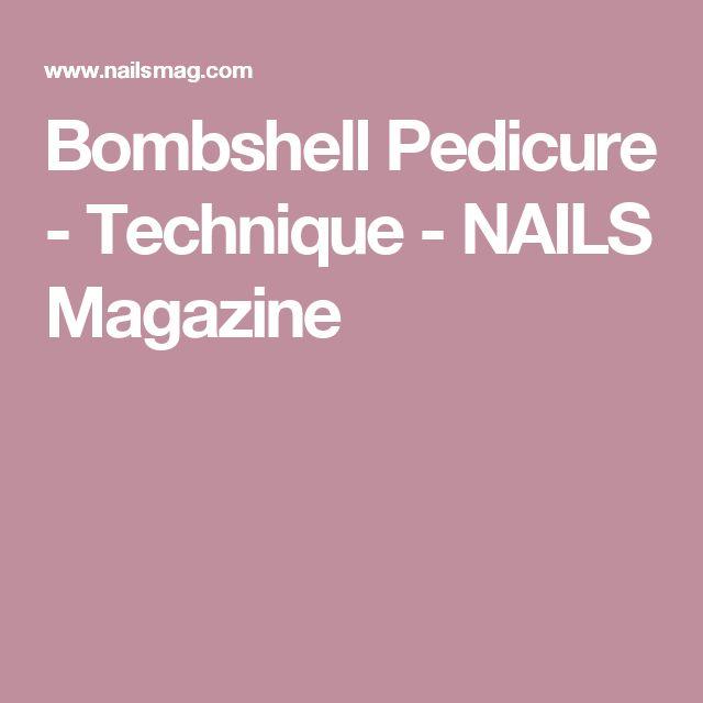 Bombshell Pedicure - Technique - NAILS Magazine