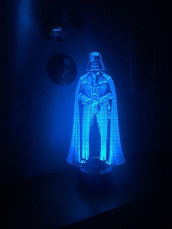 Star Wars Darth Vader Hologram Edge Lit Led Light With Remote Etsy Star Wars Bedroom Star Wars Man Cave Star Wars Room