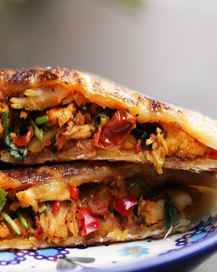 Chili Chicken-Stuffed Parathas