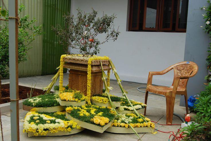Decorated Tulsi Pasupu Kottadam Haldi Ceremony Decor