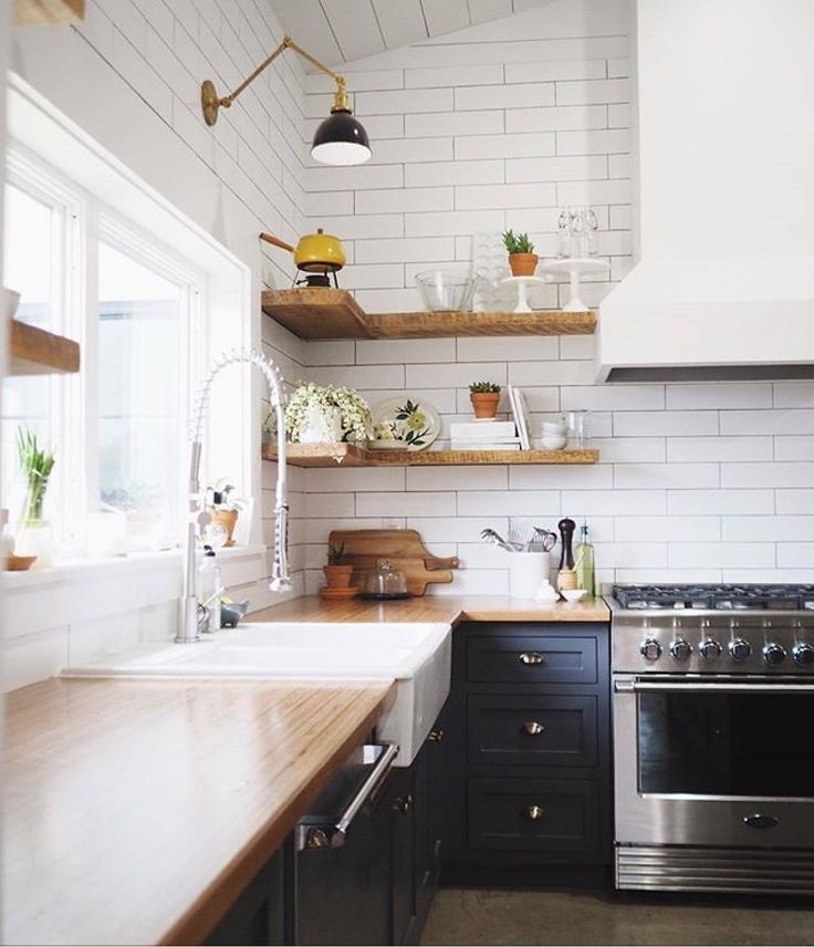 Wood top and shelving
