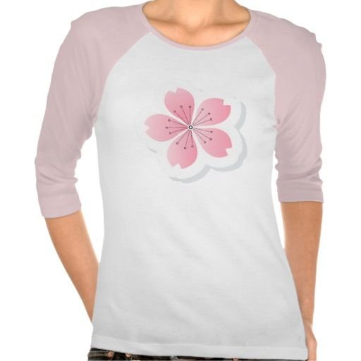 Cherry Flower • Ladies 3/4 Sleeve Raglan (Fitted) T-shirt