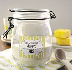 """Jiffy"" Cornbread Mix - homemade from scratch - so easy - kitchennostalgia.com"