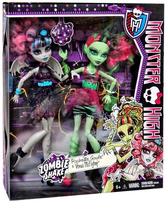 Monster High, Zombie shake rochelle golye et venus mcflytrap. 38.99$ Achetez-le info@laboiteasurprisesdenicolas.ca 450-240-0007