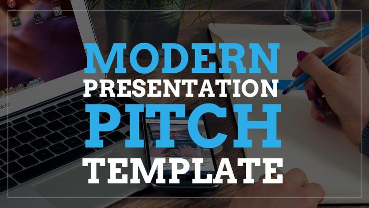 the modern presentation pitch template is a set of google slides templates created for entrepreneurs and