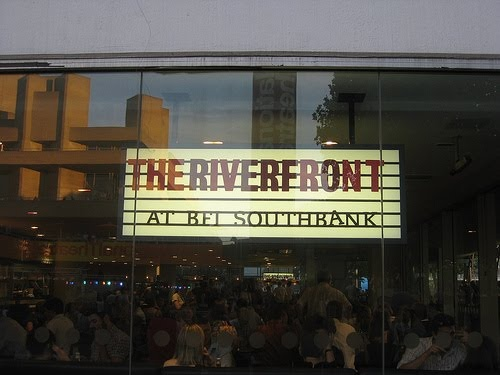 BFI bar on Southbank - perfect for riverside summer drinks to celebrate Mark's birthday