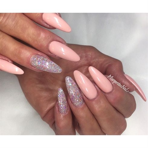 Image result for long nail chrome designs
