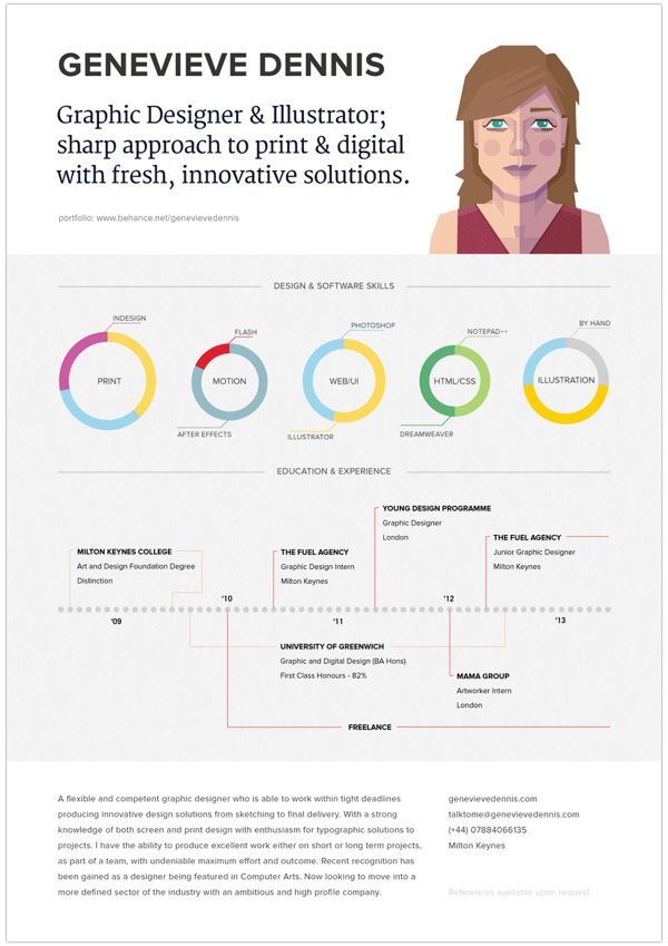 57 best Résumé Aesthetics images on Pinterest Editorial design - infographic resume examples