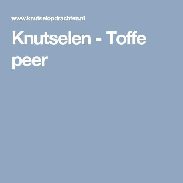 Knutselen - Toffe peer