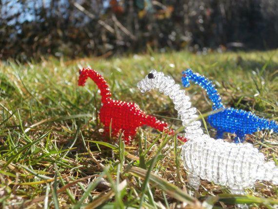 Beaded Dinosaur: Diplodocus by JacksonsBeadwork on Etsy