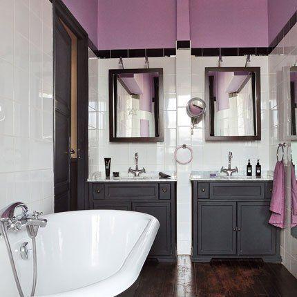 17 meilleures id es propos de salle de bains prune sur for Peinture par bain