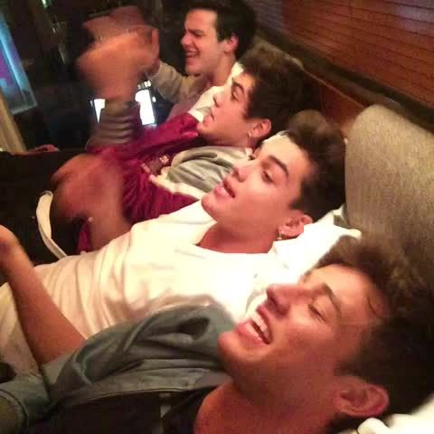 That quiet moment when everyone's singing together but no one knows the part  Grayson Dolan, Aaron Carpenter, Ethan Dolan