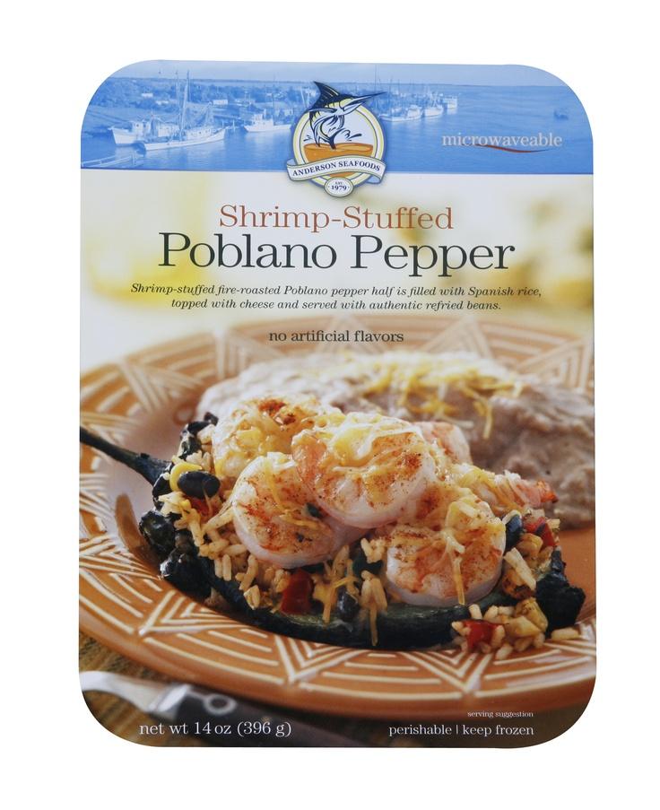 Shrimp-Stuffed Poblano Pepper