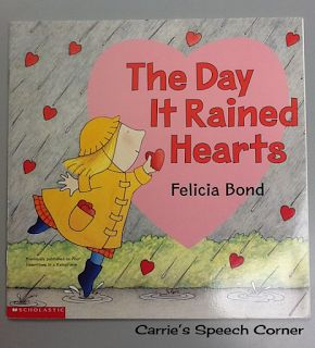 Carrie's Speech Corner: Book of the Week: The Day it Rained Hearts (And other Valentine's Day Activities)
