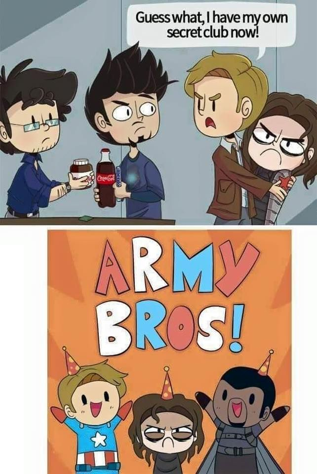 Army Bros or Science Bros: whose team are you on? I'm usually #teamsciencebros but for CA: Civil War, I gotta go with #teamarmybros. :( But I really wish my boys wouldn't fight!