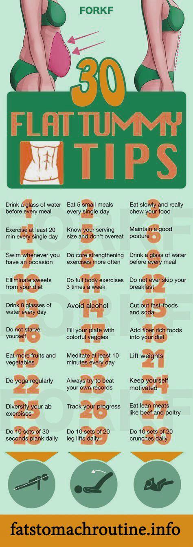 30 flat tummy tips – Flat Stomach Routine