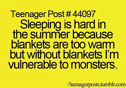 Because it totally makes since that a fuzzy blanket could protect me from anythi…