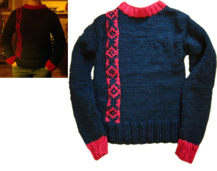 Chaleco tejido a palillo diseño propio.  #Knitting needles #jumper #guardapampa #sweater #handmade