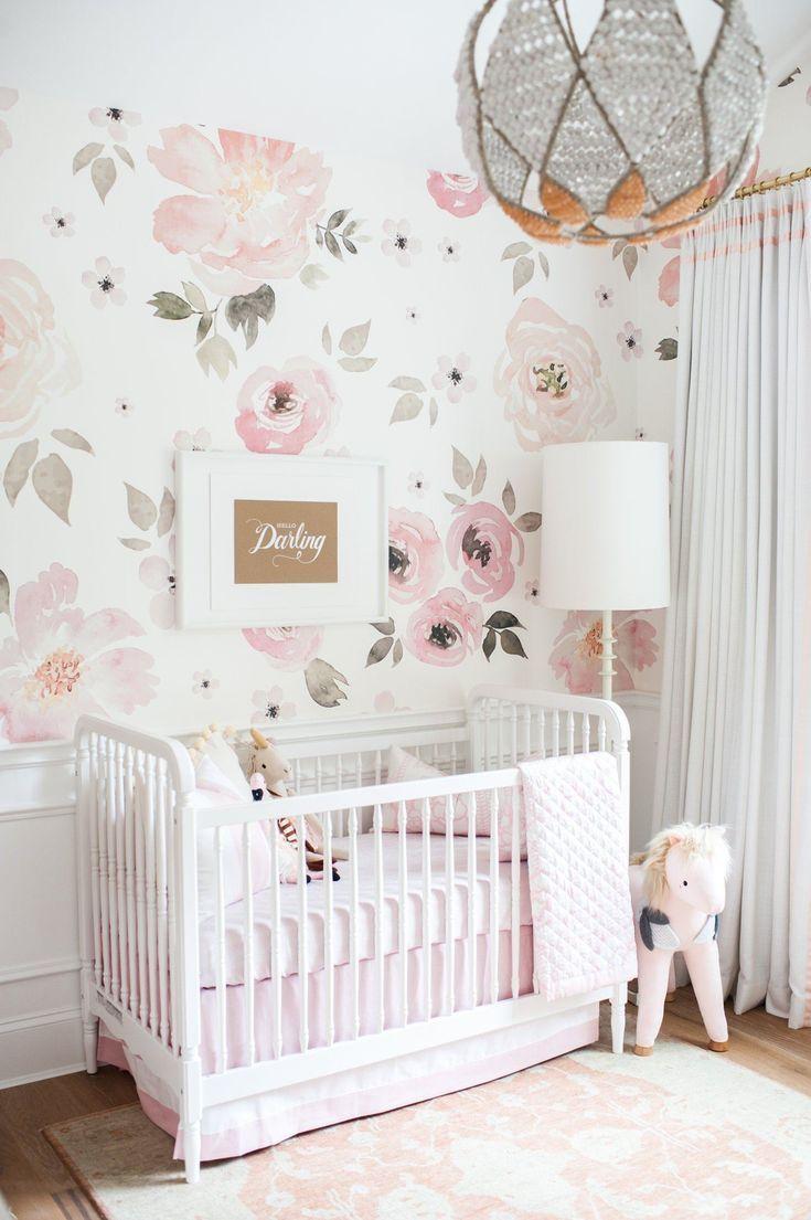 Jolie Wallpaper Mural Baby Nursery Inspiration Kids Room