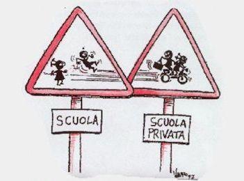 """""""Capiamoci, Renzi non propone un nuovo modello pensato all'ultimo momento, """"La Buona Scuola"""" è il tassello mancante di quel processo di privatizzazione, di trasformazione di un bene pubblico, come la scuola, in un servizio pubblico in cui gli studenti non sono più fruitori di un diritto, quello allo studio, ma utenti di un servizio."""""""