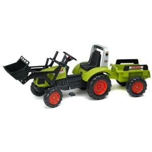 FALK Tracteur à Pédales vert Claas avec remorque - Achat / Vente tracteur - chantier - Cdiscount
