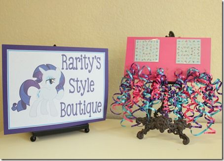 My Little Pony Party Ideas - Pony Style Boutique! Face painting, hair accessorizing and more!