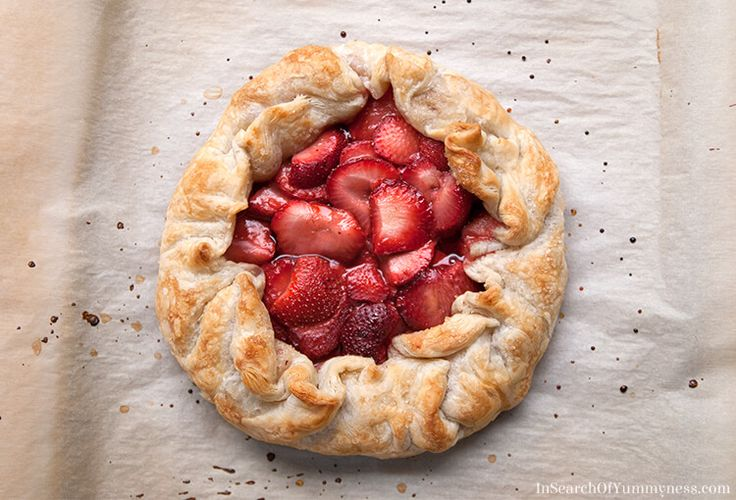 A Strawberry Galette made with Maple Syrup and Tenderflake Puff Pastry | InSearchOfYummyness.com