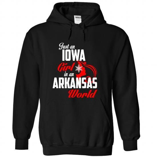 IOWA-ARKANSAS Girl 05Red - #funny t shirts for men #earl sweatshirt hoodie. ORDER NOW => https://www.sunfrog.com/States/IOWA-2DARKANSAS-Girl-05Red-Black-Hoodie.html?60505