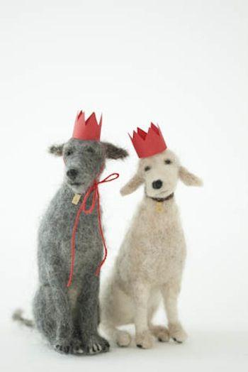 Domenica More Gordon felted dogs - adorable