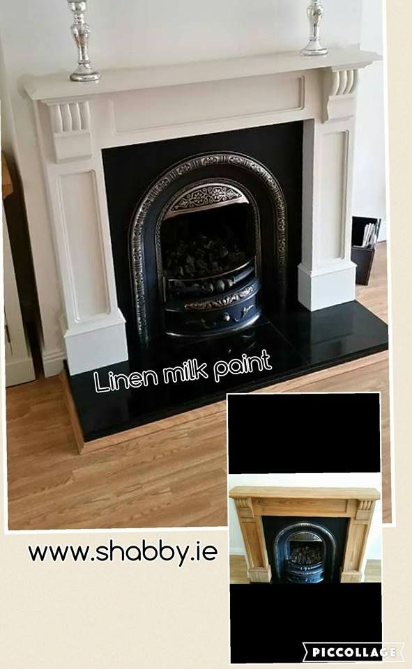 Linen milk paint by General Finishes gave this fireplace a whole new lease of life.
