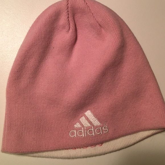 Reversible Adidas beanie Pink and white reversible Adidas beanie Adidas Accessories Hats