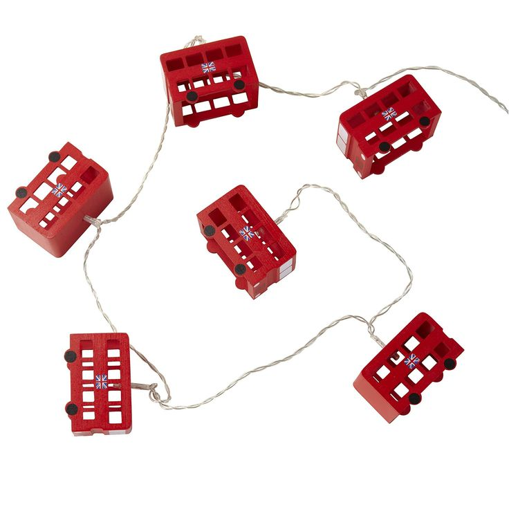 London Bus String Lights | New Room Accessories | Children's Bedroom Accessories for Girls and Boys | ASPACE
